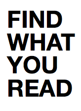 Find What you Read